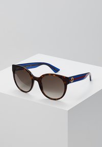 Gucci - Sunglasses - havana/blue/brown - 0