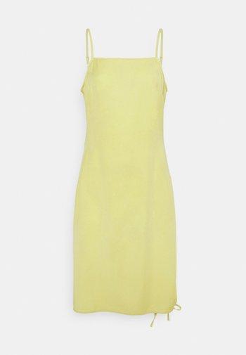 ASYMMETRIC DRAWSTRING DRESS - Day dress - green