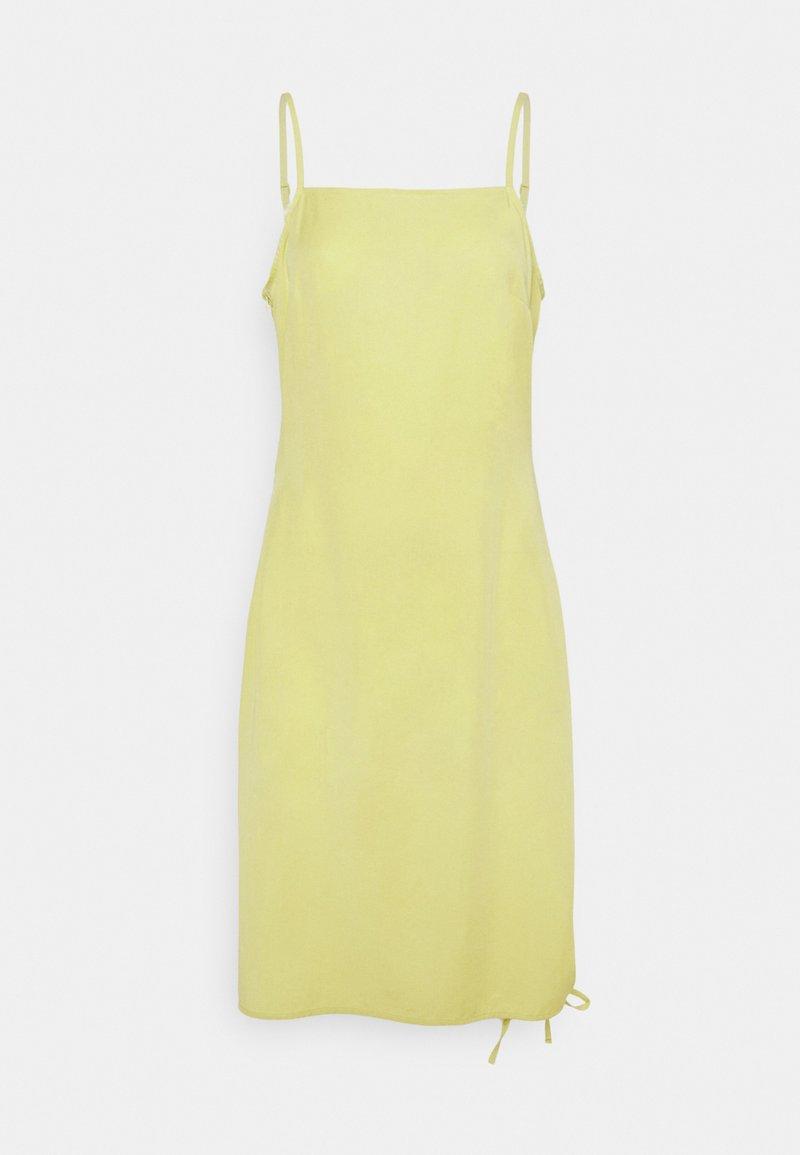 NU-IN - ASYMMETRIC DRAWSTRING DRESS - Day dress - green