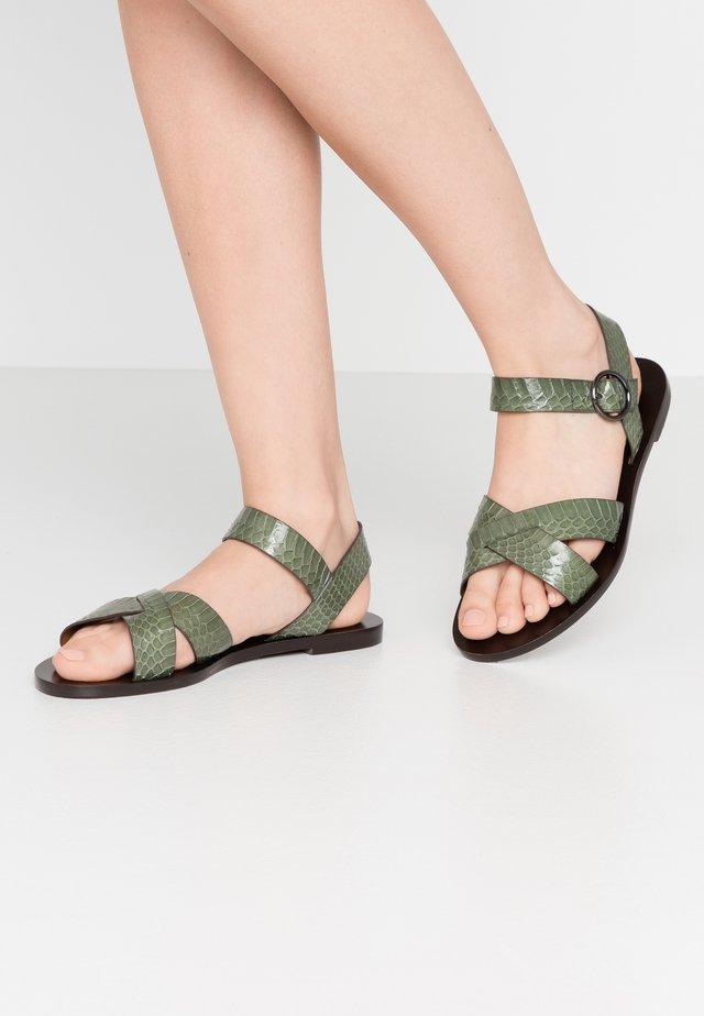 Sandály - kaki