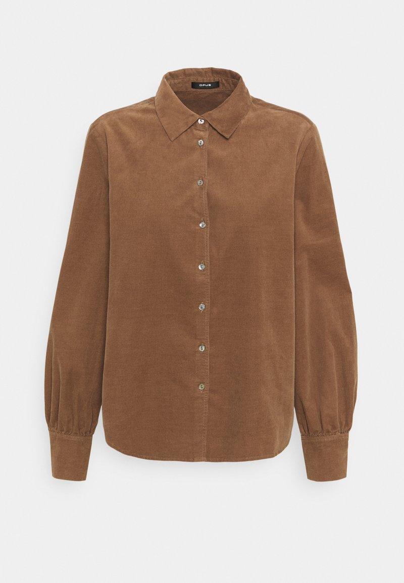 Opus - FERILLA - Button-down blouse - peanut