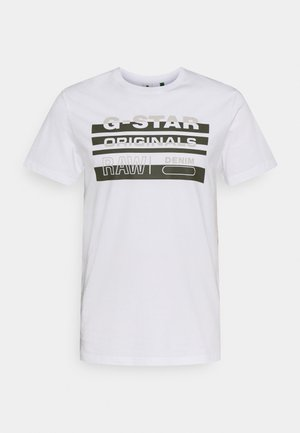 ORIGINALS STRIPE LOGO - Triko s potiskem - white