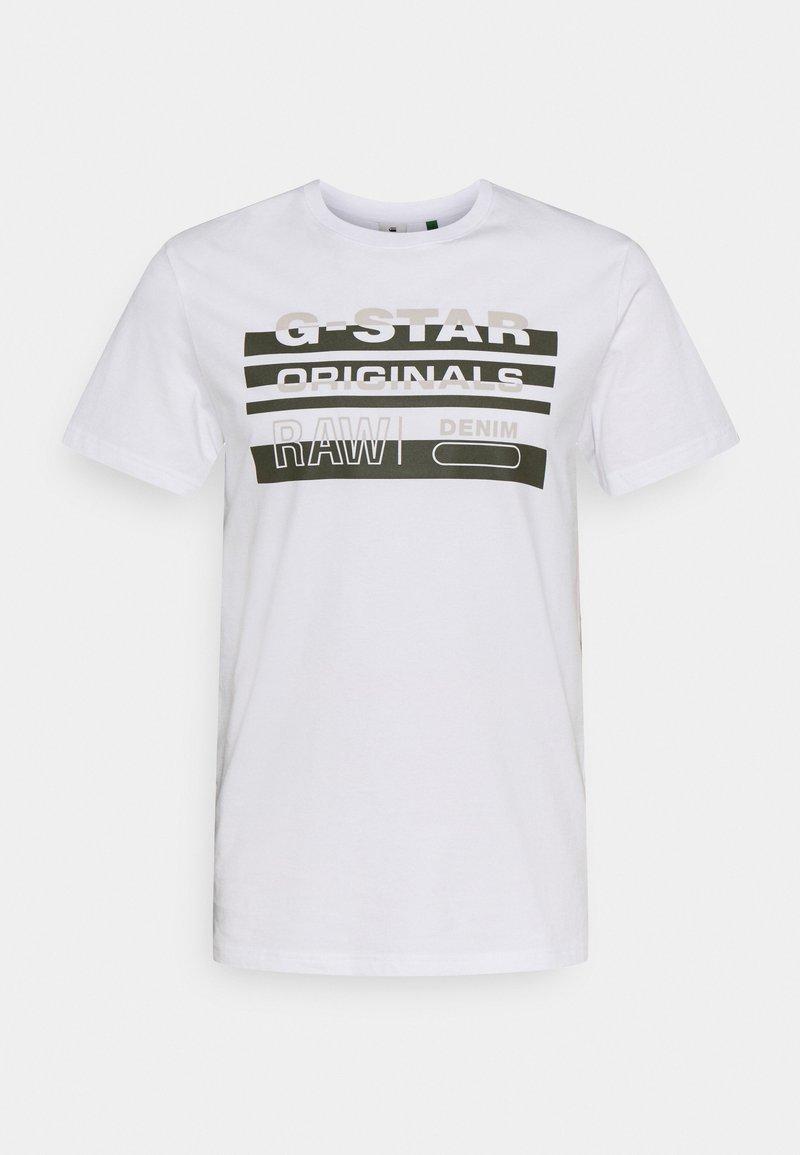 G-Star - ORIGINALS STRIPE LOGO - T-shirt con stampa - white