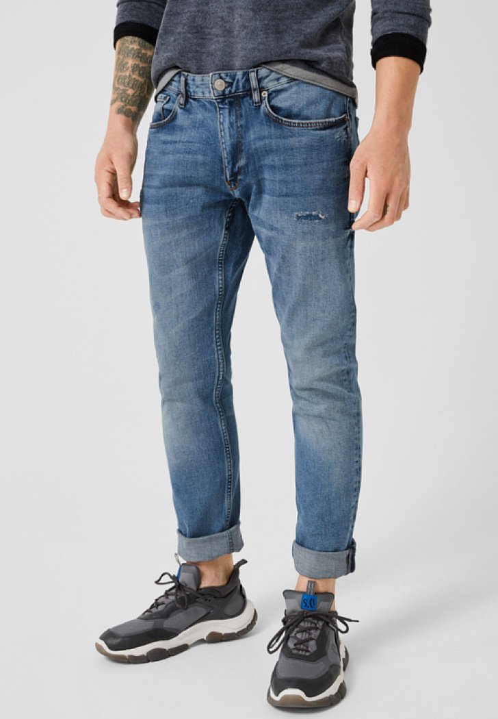 Q/S designed by - RICK SLIM - Slim fit jeans - blue denim stone
