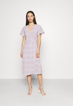 VILOVIE WRAP MIDI DRESS - Day dress - lavender