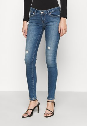 ONLCORAL LIFE SUPERLOW - Jeans Skinny Fit - medium blue denim