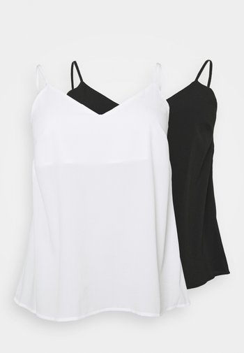 PLAIN STRAPPY CAMI 2 PACK