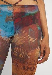 Jaded London - SLIGHT FLARED LEG BEACH TROUSER WITH XL BINDING HEATMAP PRINT - Trousers - brown/ blue/multi - 4