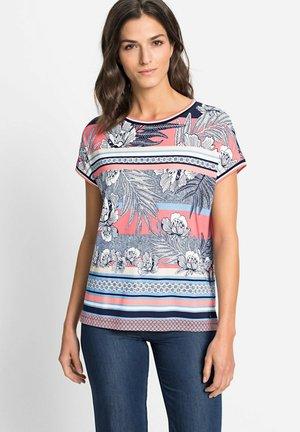 RUNDHALS - Print T-shirt - koralle