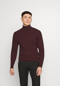 Zign - Jumper - mottled bordeaux - 0