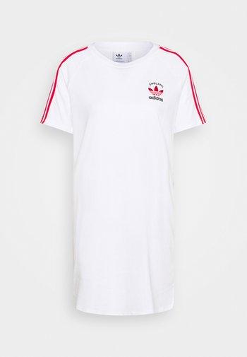 STRIPES SPORTS INSPIRED REGULAR DRESS - Vestido ligero - white/scarlet