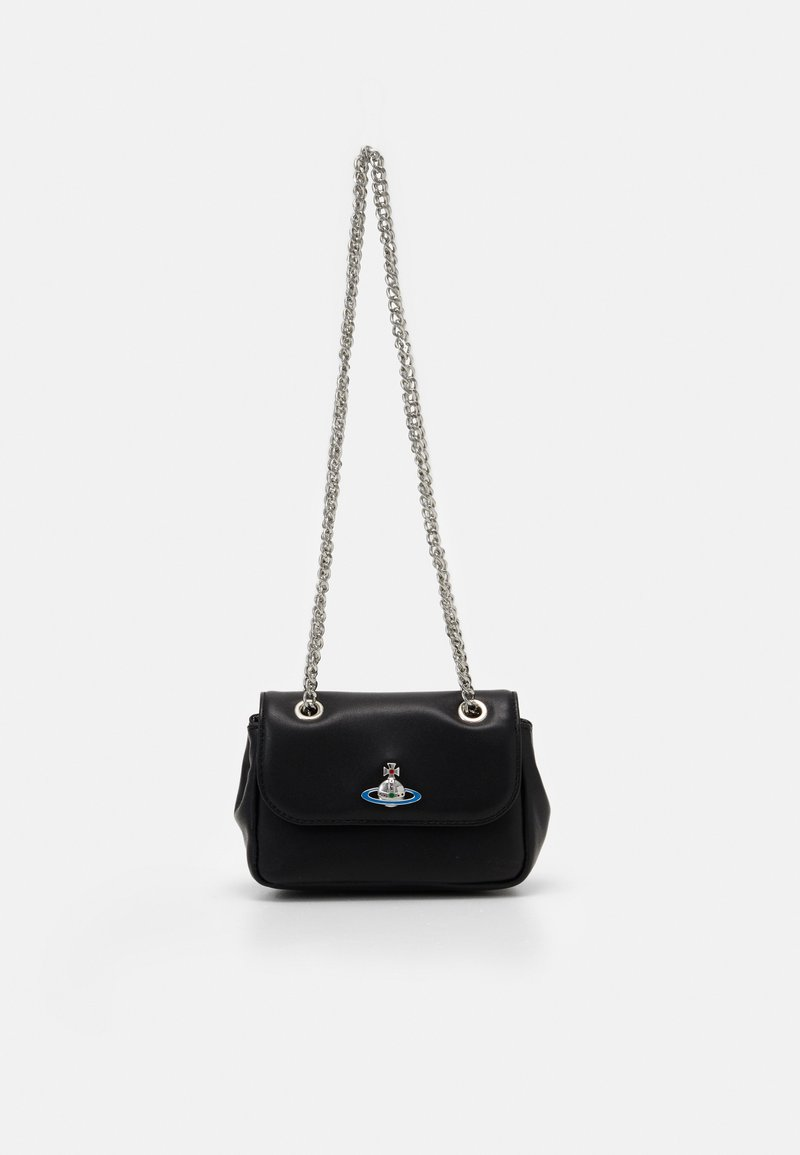 Vivienne Westwood - EMMA SMALL PURSE WITH CHAIN - Kabelka - black