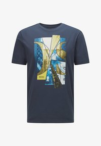 BOSS - Print T-shirt - dark blue - 4