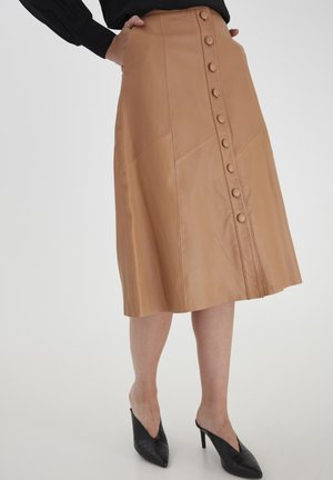 DRMAYA SKIRT - A-line skirt - tobacco brown
