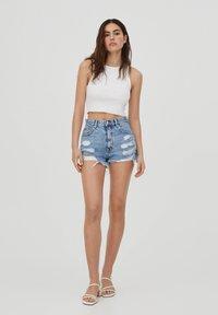 PULL&BEAR - Denim shorts - royal blue - 1