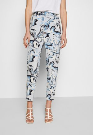 Trousers - blue marbling