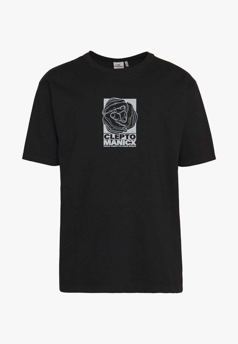 Cleptomanicx - HANDS - Print T-shirt - black
