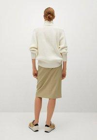 Mango - PENCIL - A-line skirt - beige - 2