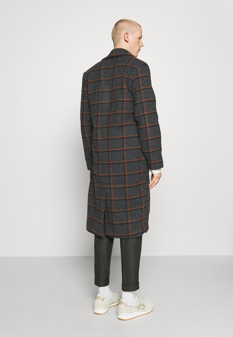 Another Influence - BLAKE LONGLINE CASUAL OVERCOAT - Klassisk frakke - charcoal