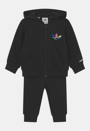 HOODIE SET UNISEX - Sweater met rits - black