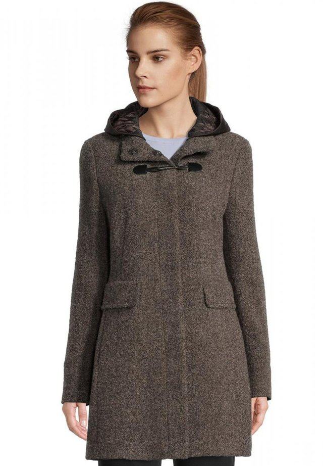 Winter coat - grey brown melange