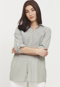 b.young - BYFIE STRIPE - Button-down blouse - olivine mix - 0