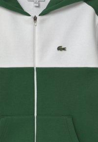 Lacoste - LOGO BLOCK - Sweatjakke - white/green - 2