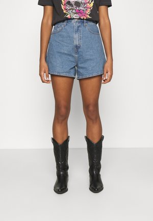 HIGH LOOSE - Denim shorts - blue denim