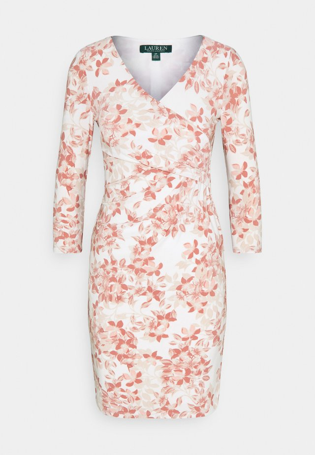 CLEORA - Robe fourreau - cream/pink/multi