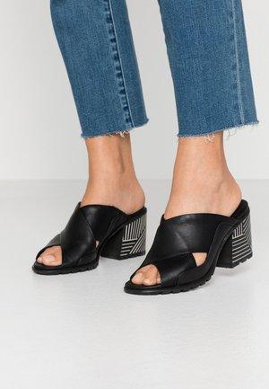 NADIA MULE - Heeled mules - black