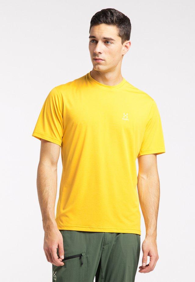 Print T-shirt - pumpkin yellow