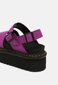 Dr. Martens - VOSS QUAD - Platform sandals - bright purple - 5