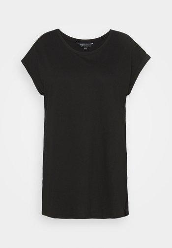 PLAIN LONGLINE TEE - Basic T-shirt - black