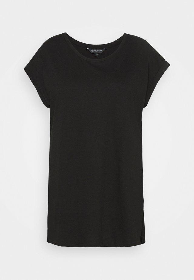 PLAIN LONGLINE TEE - T-shirt basic - black