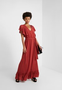 DESIGNERS REMIX - BYRON DRESS - Maxi dress - ox blood - 1