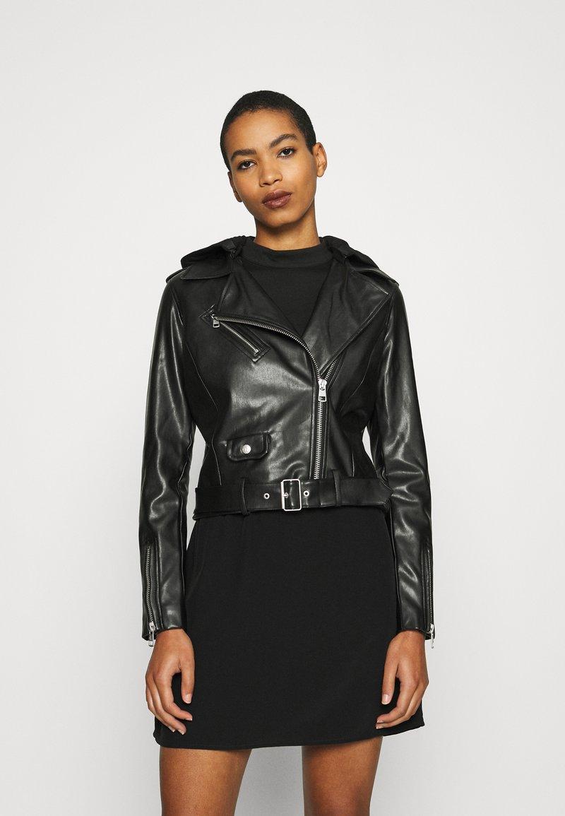 Calvin Klein Jeans - JACKET - Bunda zumělé kůže - black
