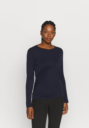RAVYN POCKET CREW - Long sleeved top - midnight navy