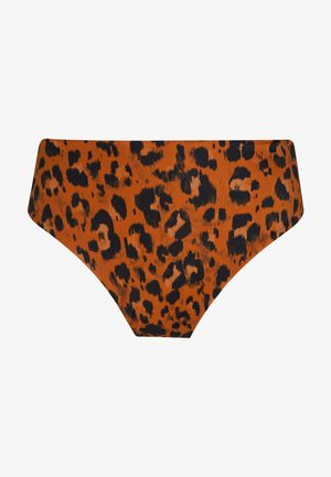 ROAR INSTINCT HIGH WAIST BRIEF - Bikini bottoms - cognac/black