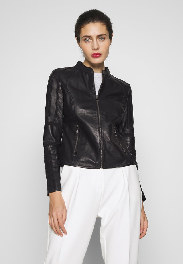 TONYA - Leather jacket - black