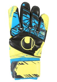 Uhlsport - ELIMINATOR SUPERSOFT - Goalkeeping gloves - lite fluo gelb/schwarz/hydro blau - 1