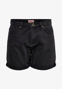 ONLY - JEANSSHORTS REGULAR FIT - Denim shorts - black - 4