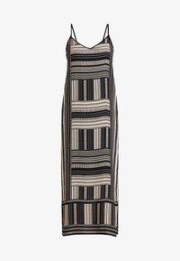 CROSS DOTTED BLOCK DRESS - Maxi-jurk - rich black