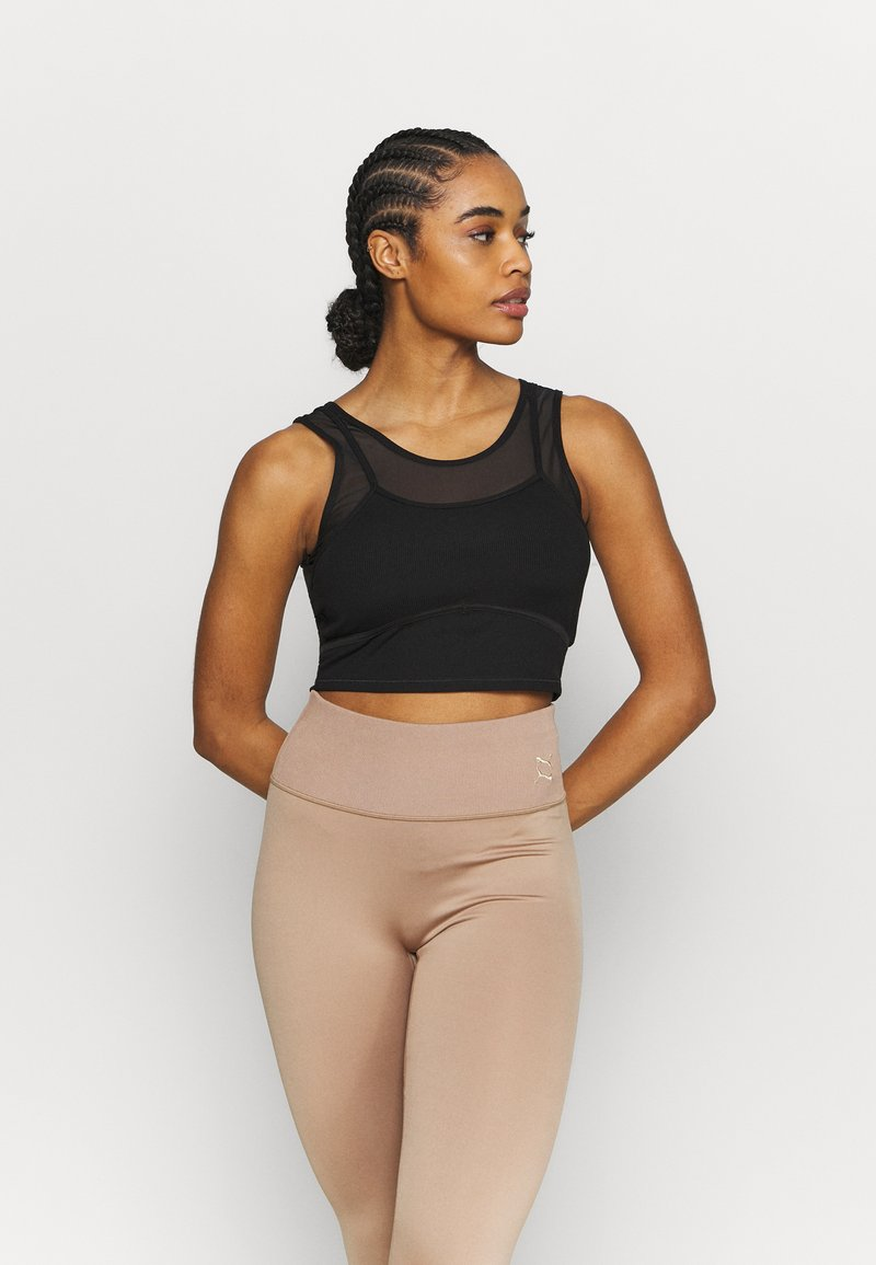 Puma - STUDIO LAYERED CROP  - Top - black