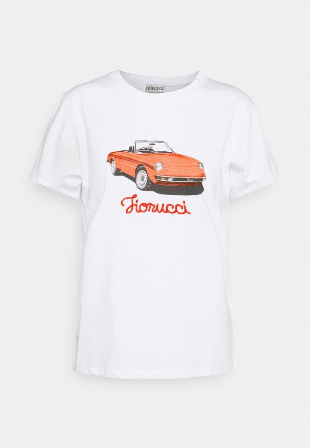 RACING CAR TEE - Camiseta estampada - white