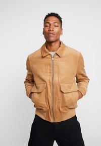 Topman - HARRINGTON - Summer jacket - stone - 0