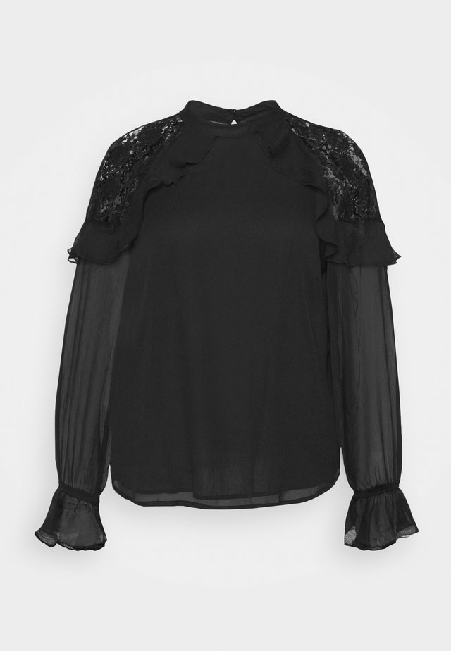 BARBIE SLEEVE INSERT WITH FRILL - Blouse - black