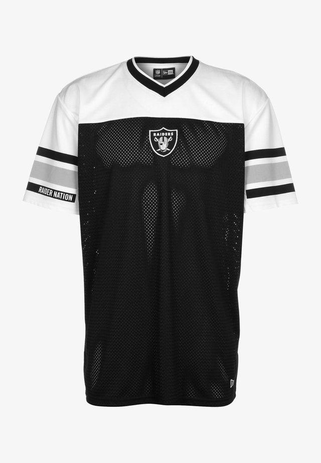 JACQUARD OVERSIZED MESH LAS VEGAS RAIDERS - Print T-shirt - black