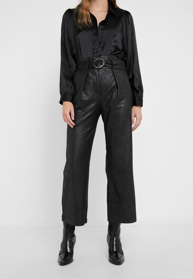 ASIA - Spodnie materiałowe - black