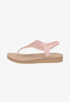 MEDITATION - T-bar sandals - rose goud