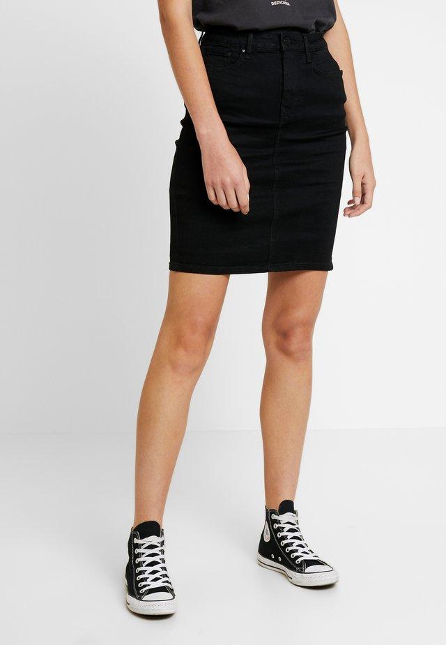 Mini skirt - black washed